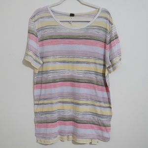Free People Tops - ⚡️ FREE PEOPLE WE THE FREE MULTICOLOR STRIPED TEE